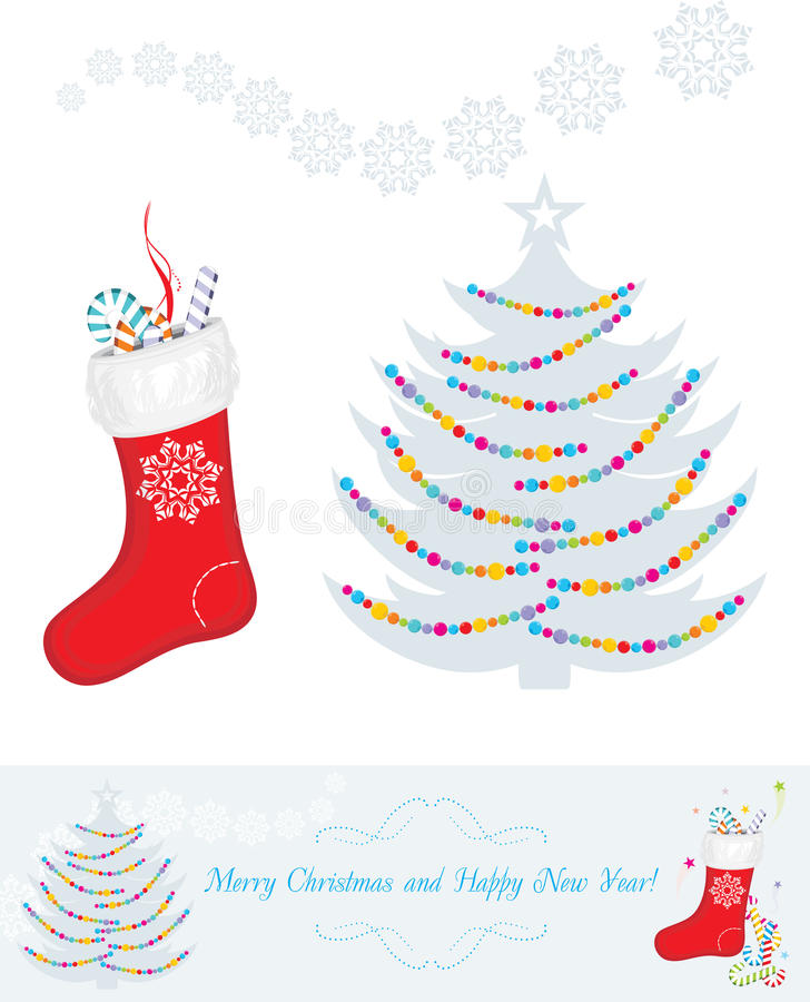 Christmas decoration for vintage design royalty free stock photo