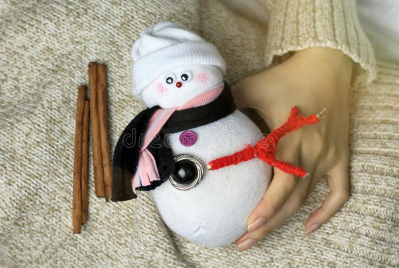 Christmas decoration, warm winter celebration. royalty free stock images