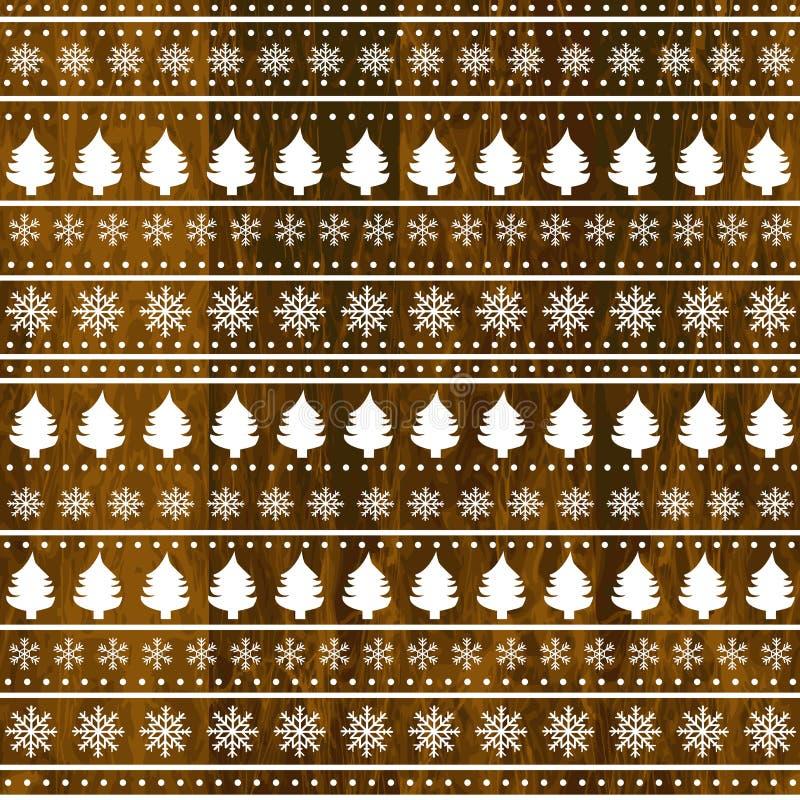 Christmas decoration on wooden background. Christmas decoration and ornaments on wooden background stock illustration