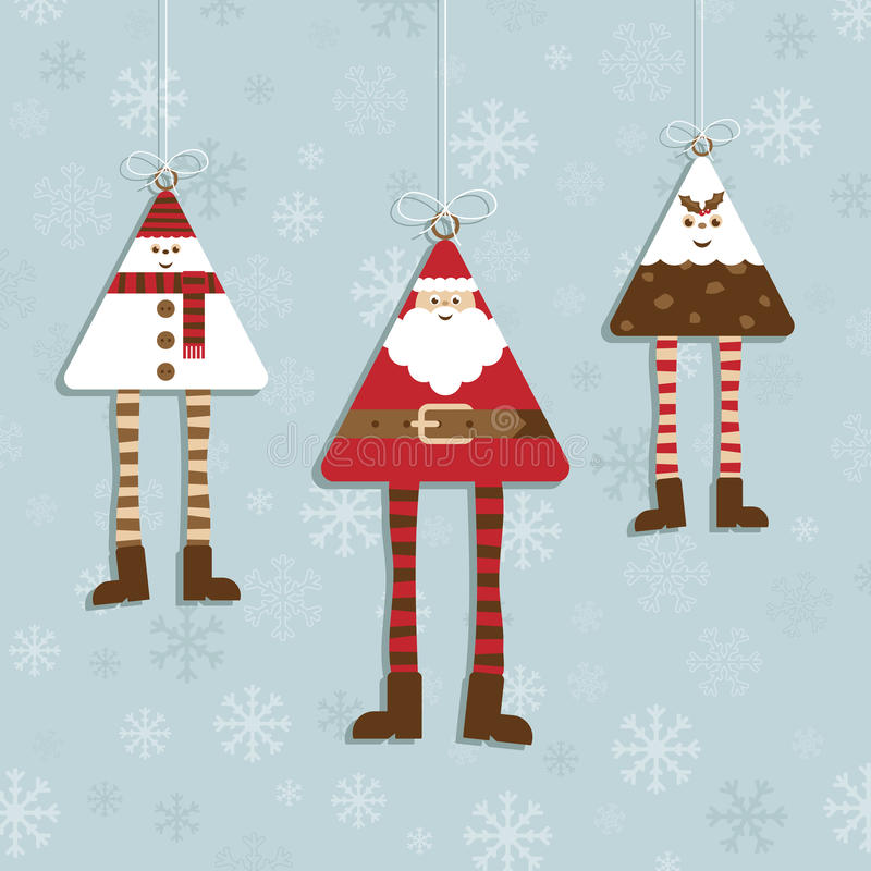 Christmas decorations stock illustration