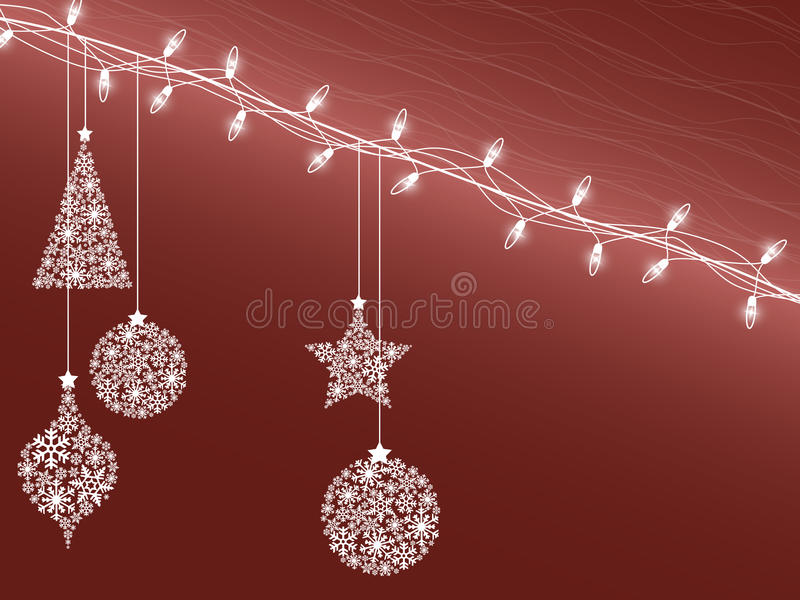 Christmas decorations 4 royalty free illustration