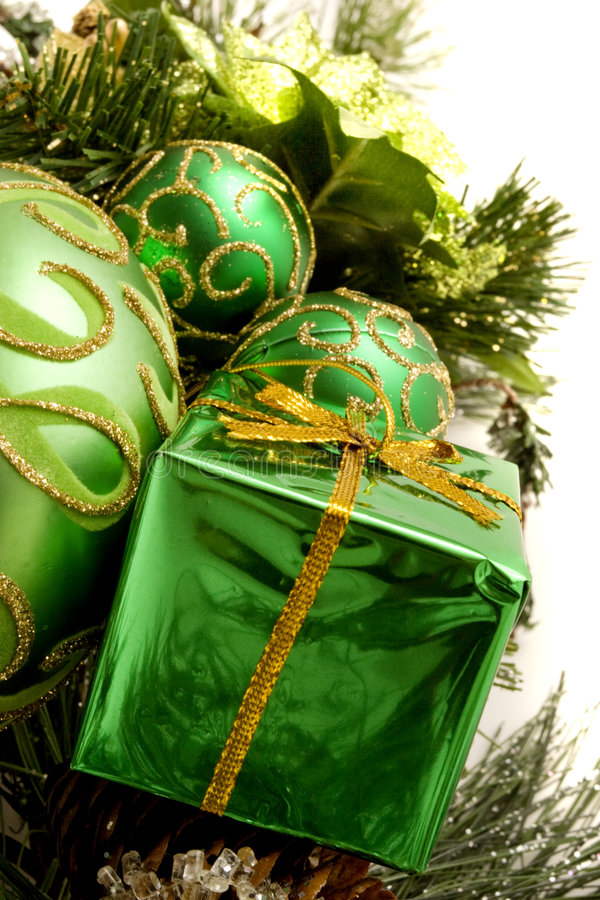Download Christmas decorations stock photo. Image of pine, background - 7114128