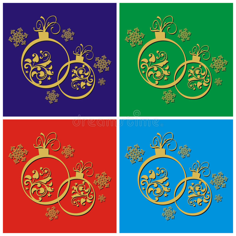 Christmas decorations with baubles stock image