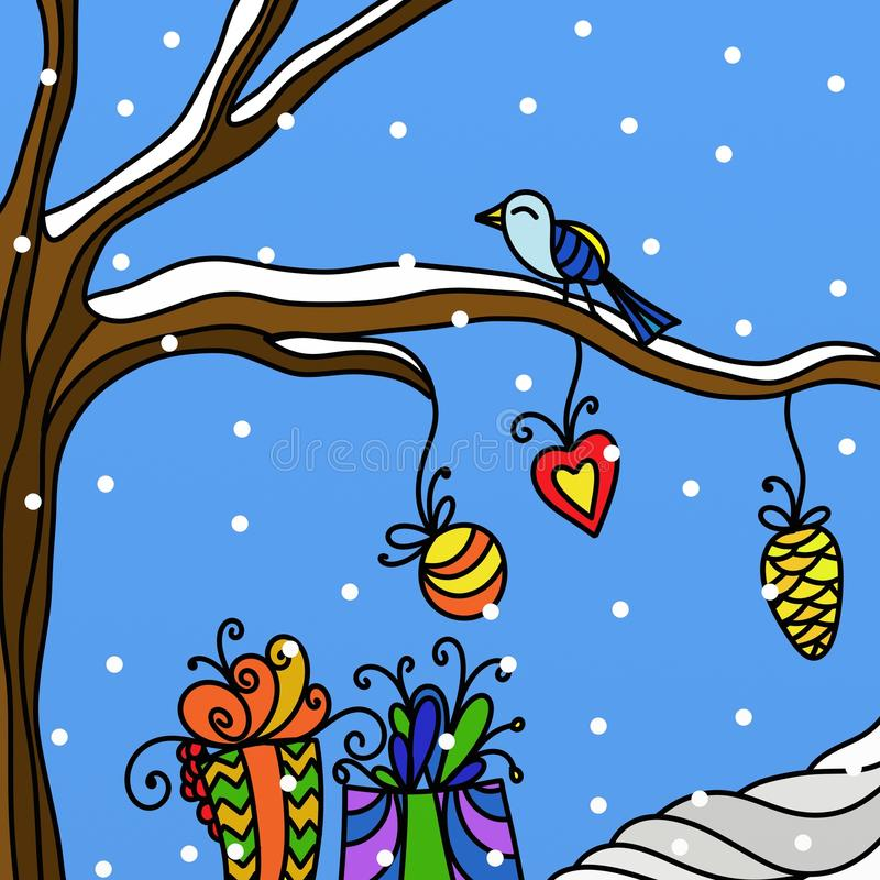 Download Christmas Decorations And Birds Stock Photography - Image: 17151912