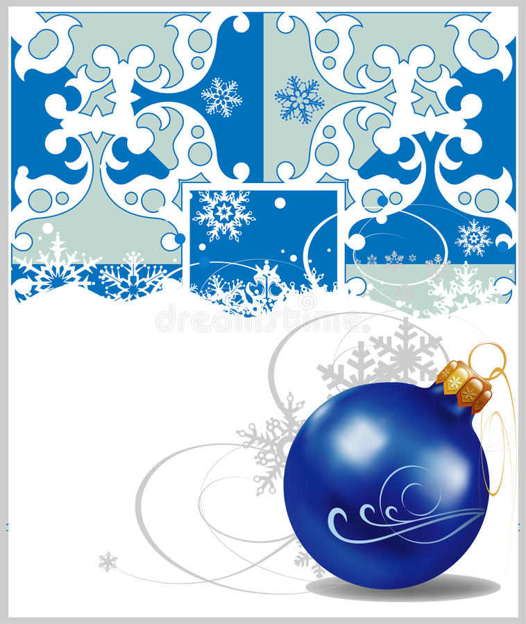 Christmas Decorations In Blue Background Royalty Free Stock Image