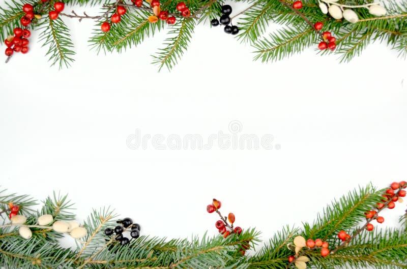 Christmas decorations. Border with a christmas decoration stock photos