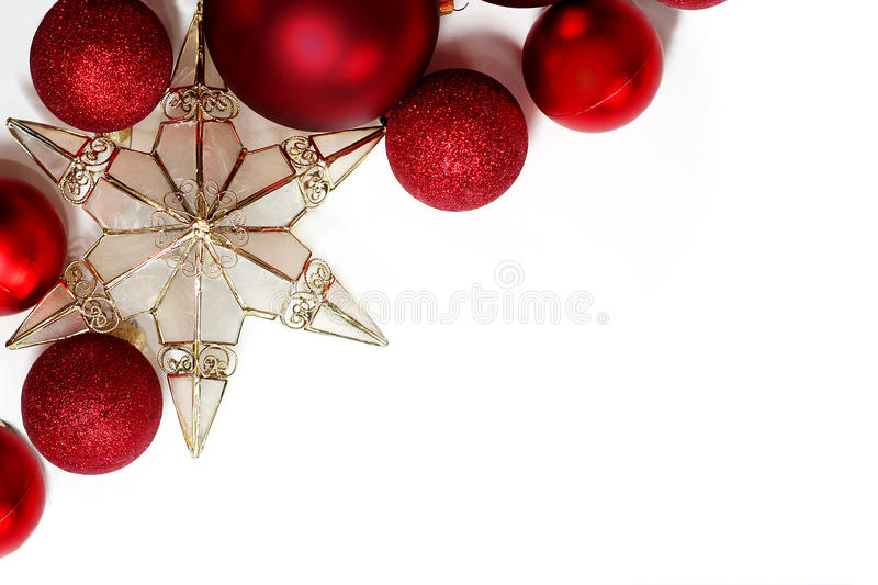 Download Christmas Decorations Border Stock Image