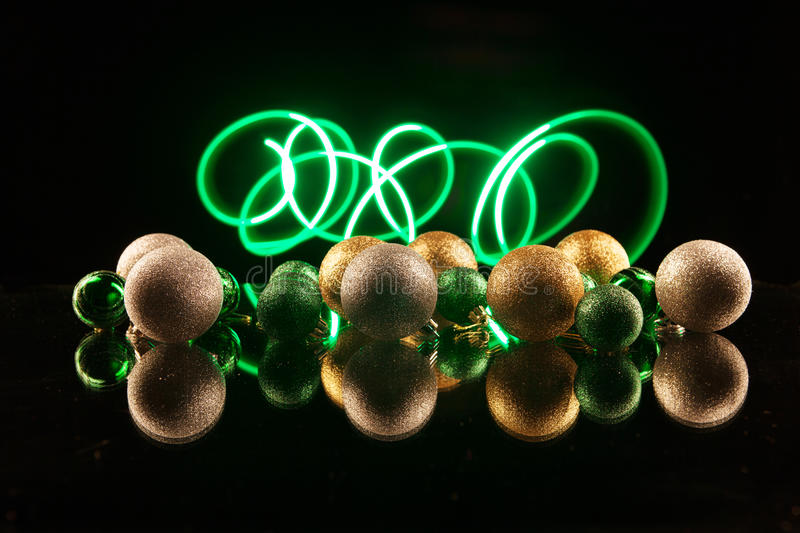 Download Christmas Decorations Bulb And Lights Stock Image - Image of background, blue: 36023135
