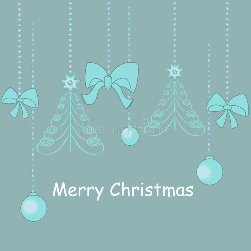 Download Christmas Decorations Card.  Illustration Stock Vector - Image: 22344296
