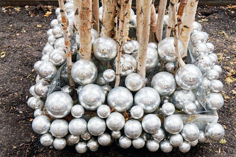 Christmas Decorations, Chicago Illinois, USA royalty free stock photography