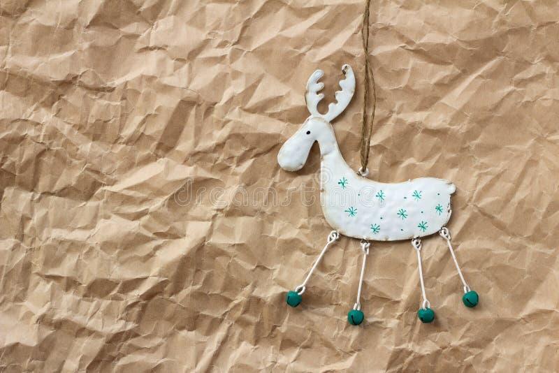 Christmas decorations. Christmas deer stock photo