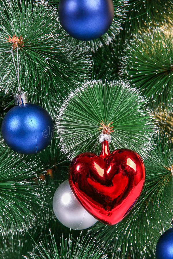 Download Christmas Decorations On A Christmas Tree Stock Photo - Image: 83713207
