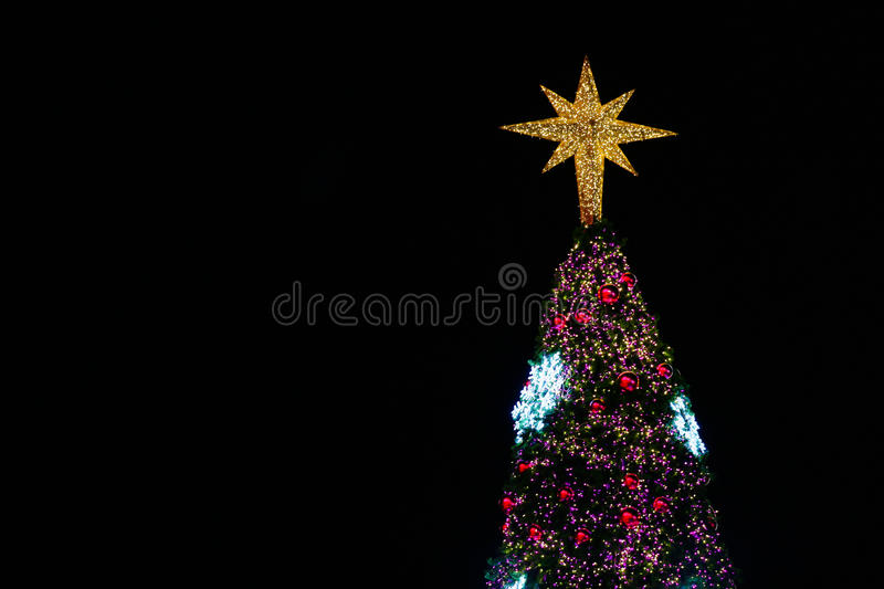 Christmas decorations or christmas tree light prepare for celebrate day, abstract Bokeh light good use for background, christmas. Background and empty area for stock image