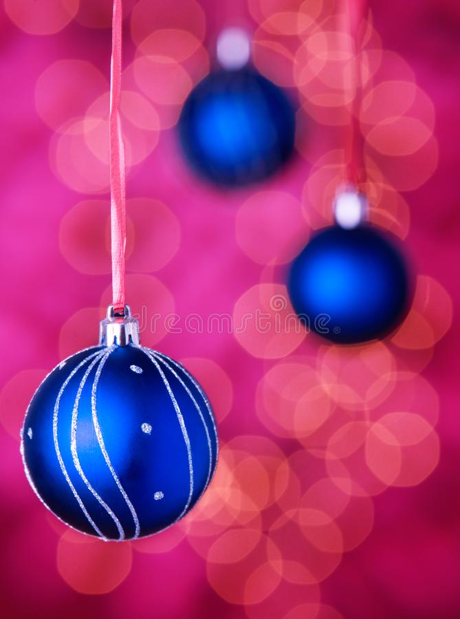 Christmas Decorations on pink background. Christmas decorations closeup on pink background royalty free stock images