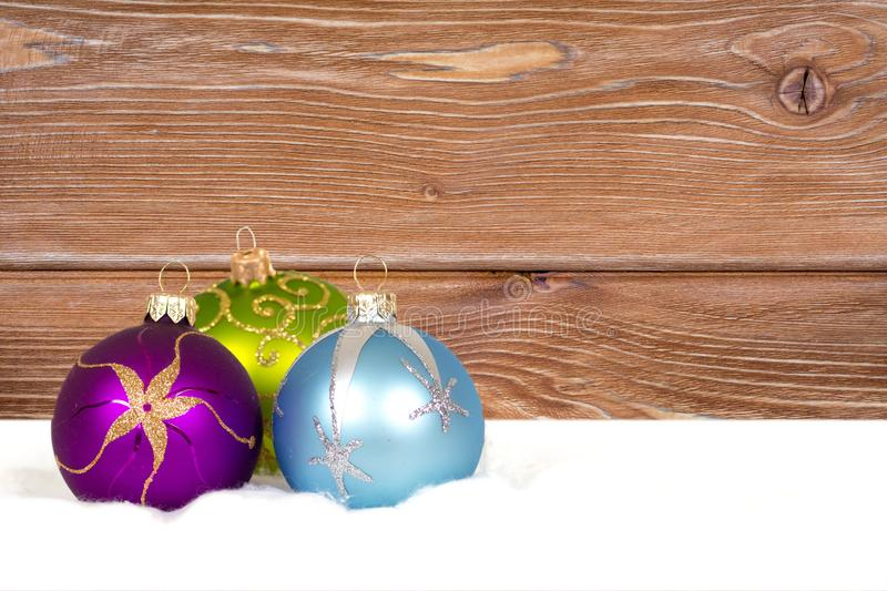 Christmas decorations composition stock photography
