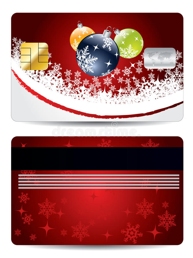 Download Christmas Decorations Credit Card Design Stock Vector - Image: 16778522