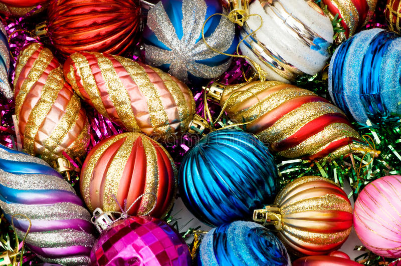 Christmas decorations in festive. Holiday concept royalty free stock photo