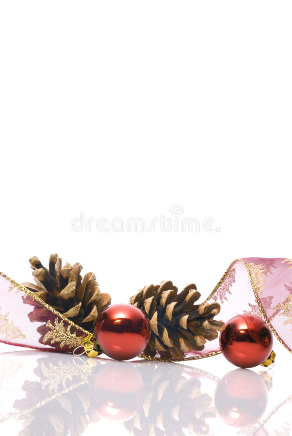 Christmas decorations frame. Christmas decorations with blank frame to write stock photos