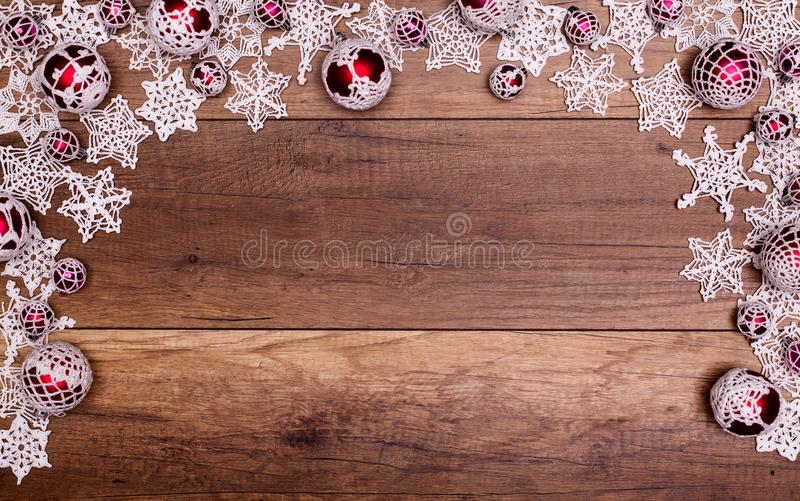 Christmas and holidays season decorations frame stock photo