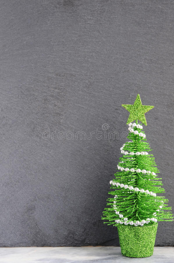 Christmas decorations on a gray background. Christmas background for greeting card or wallpaper. Christmas decorations on a gray background. Christmas royalty free stock photos