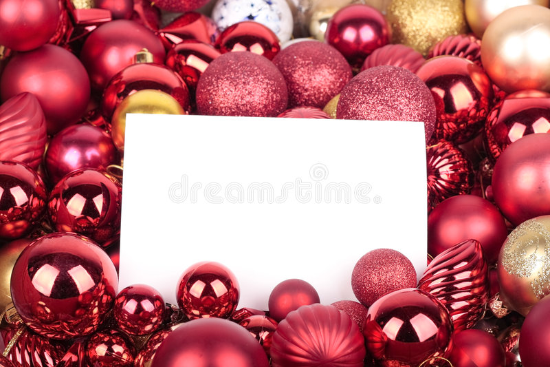 Download Christmas Decorations And Greeting Card Stock Image - Image: 7078043