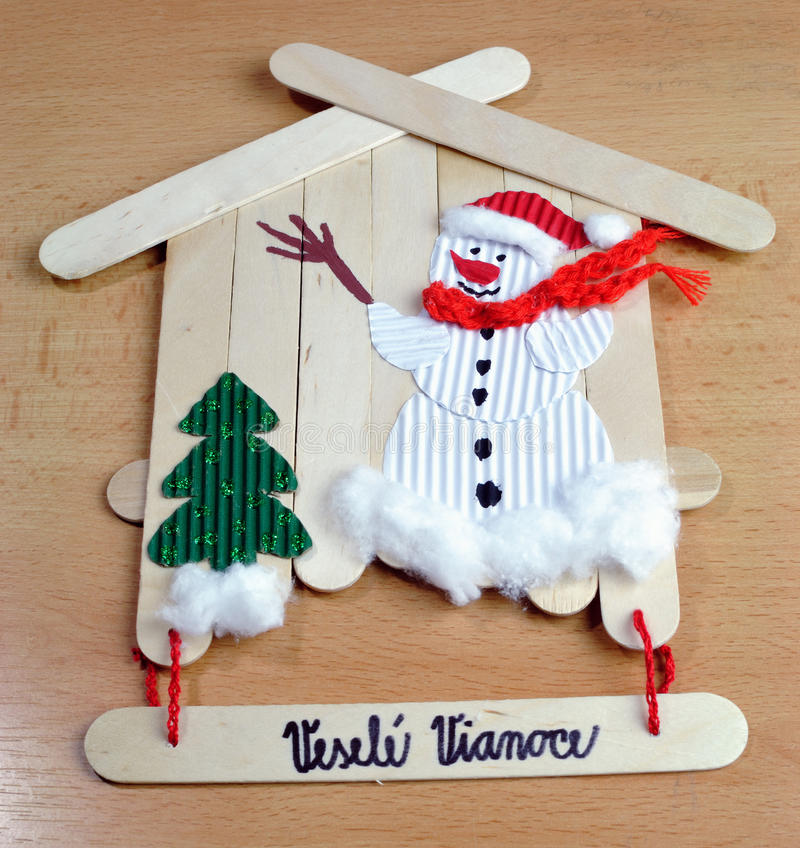 Christmas decorations handmade stock image image 34608003 for Christmas crafts for young children