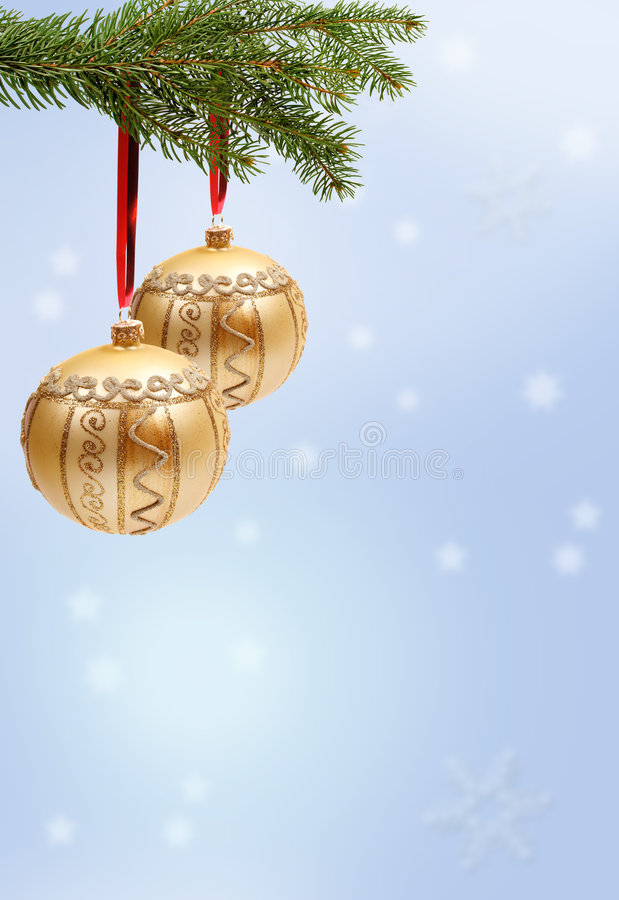 Christmas decorations hanging stock images