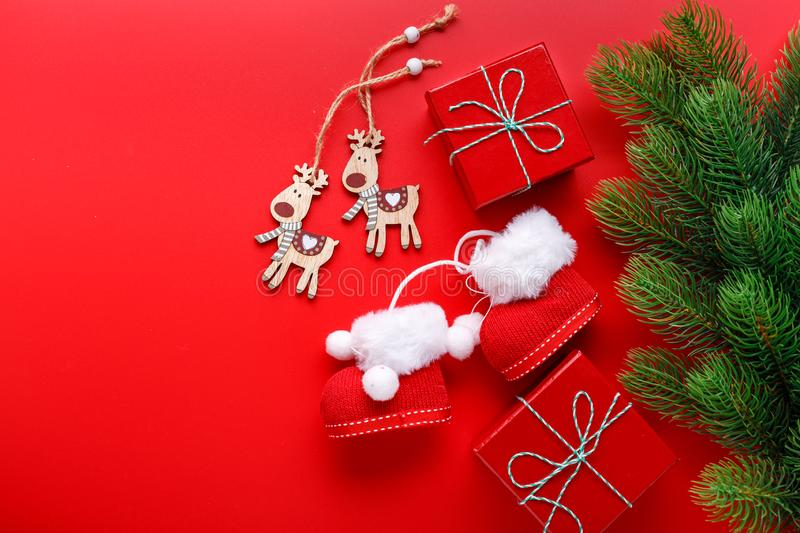Christmas decorations for Christmas holiday stock images
