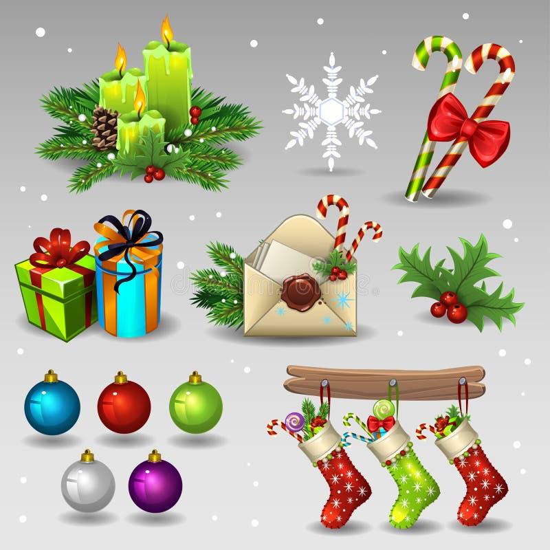 Christmas decorations vector illustration