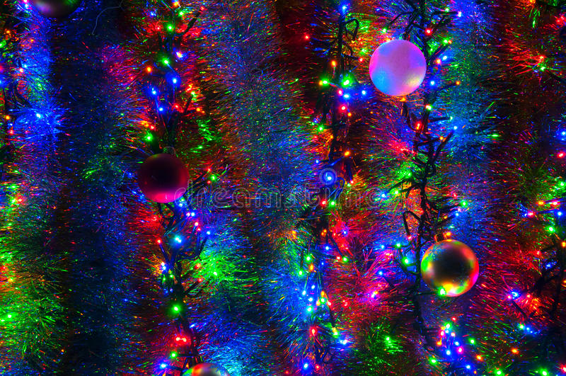 Christmas decorations and lights stock photos