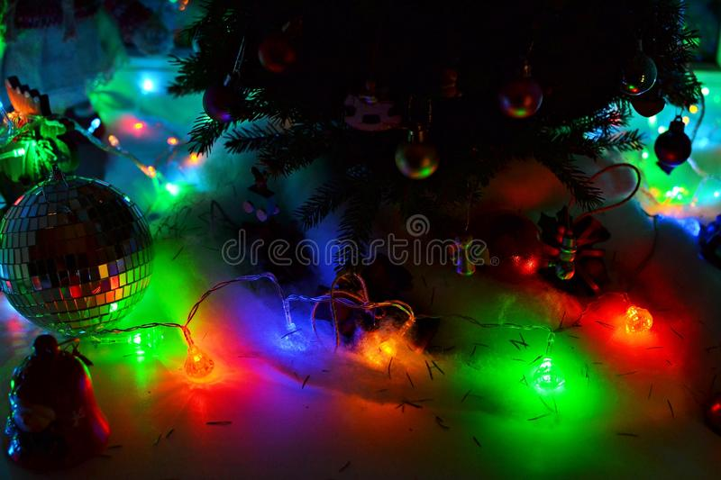 Download Christmas Decorations, Lights, And Toys Stock Image - Image: 83709455