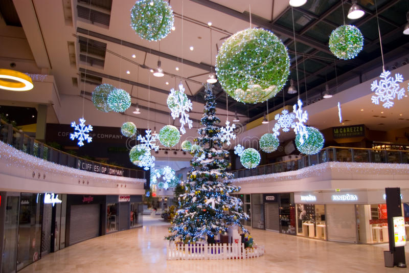 Christmas decorations at mall editorial stock image for Christmas decorations online shopping