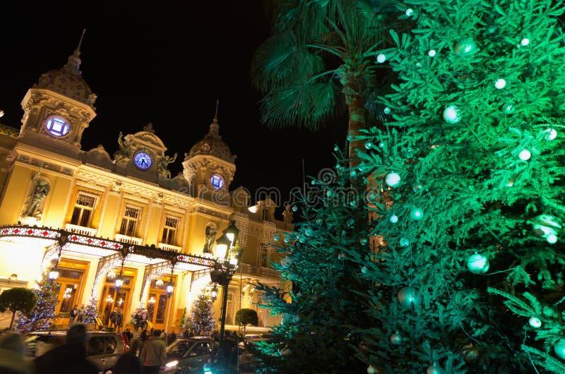 Christmas decorations in Monaco, Montecarlo,France stock photography