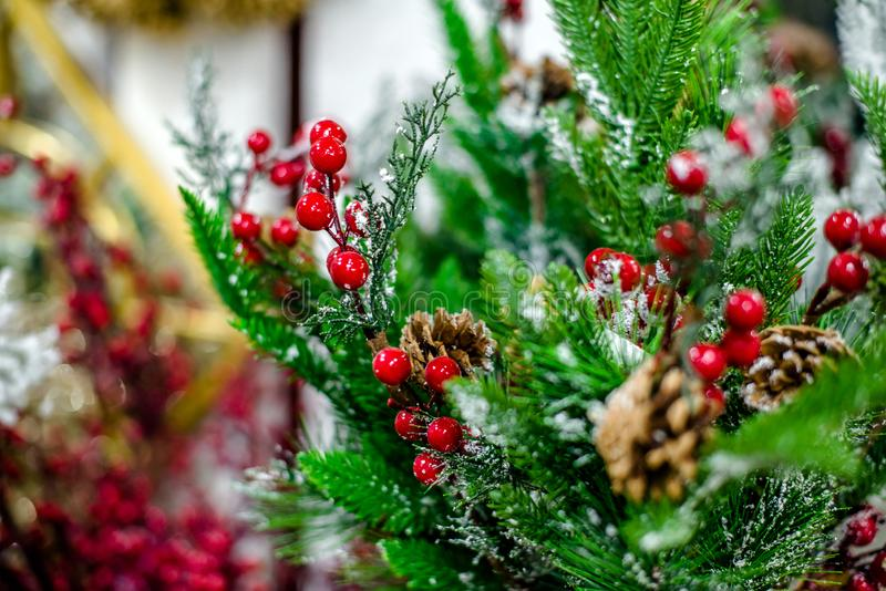 Christmas Decorations With Red Berries 库存图片 - 图片 包括有 ...