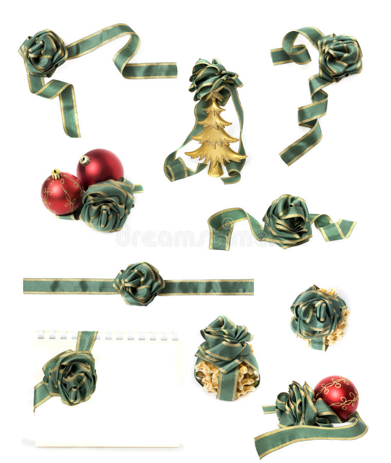 Christmas decorations set isolated