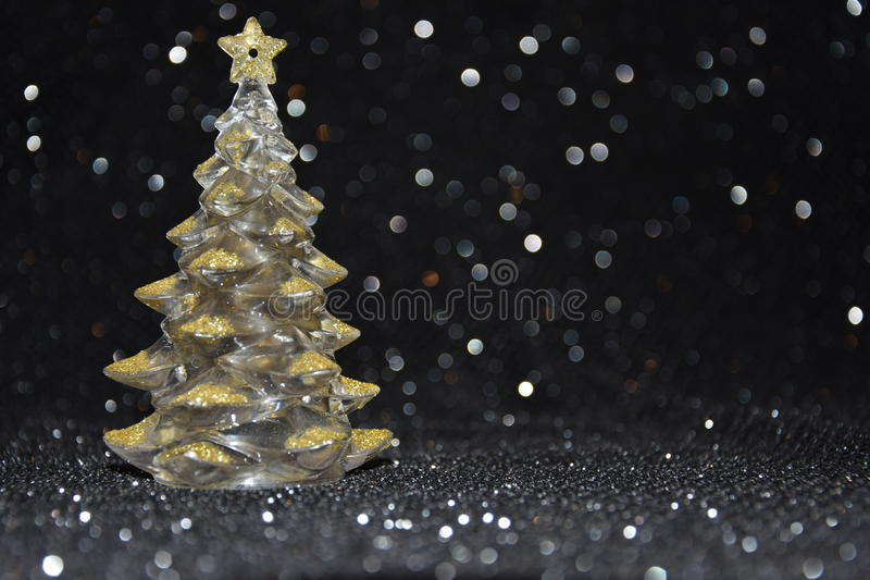 Download Christmas Decorations On A Shiny Black Background Stock Photo - Image: 83712193