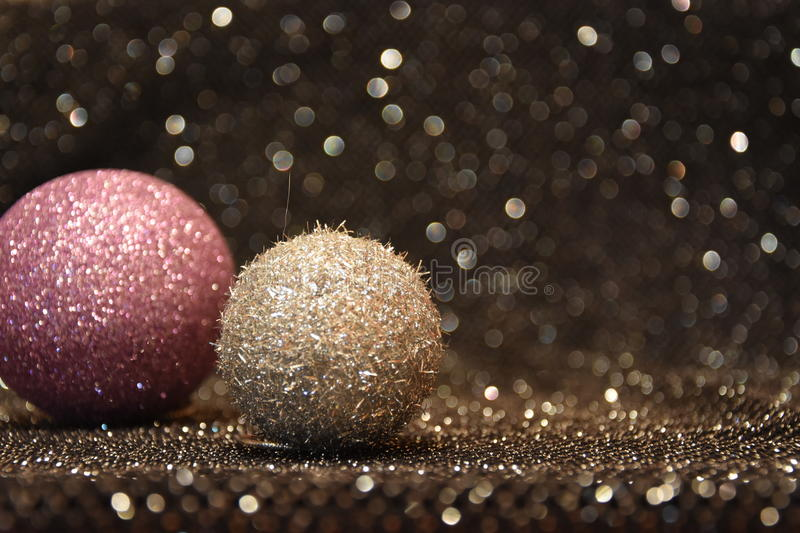 Download Christmas Decorations On A Shiny Black Background Stock Image - Image: 83711913