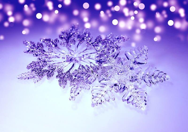 Christmas decorations snowflakes royalty free stock photo