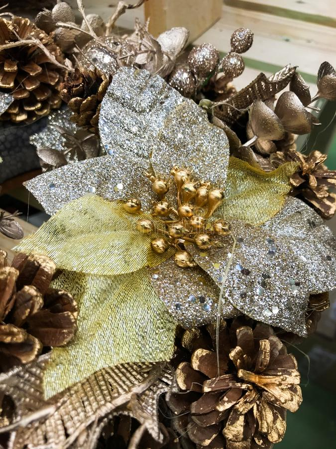 Christmas decorations at home. Christmas decorations that are suitable for the whole house. with these wounds the holiday atmosphere will feel even better stock photo