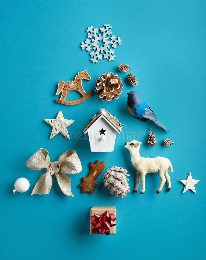 christmas decorations various στοκ εικόνες