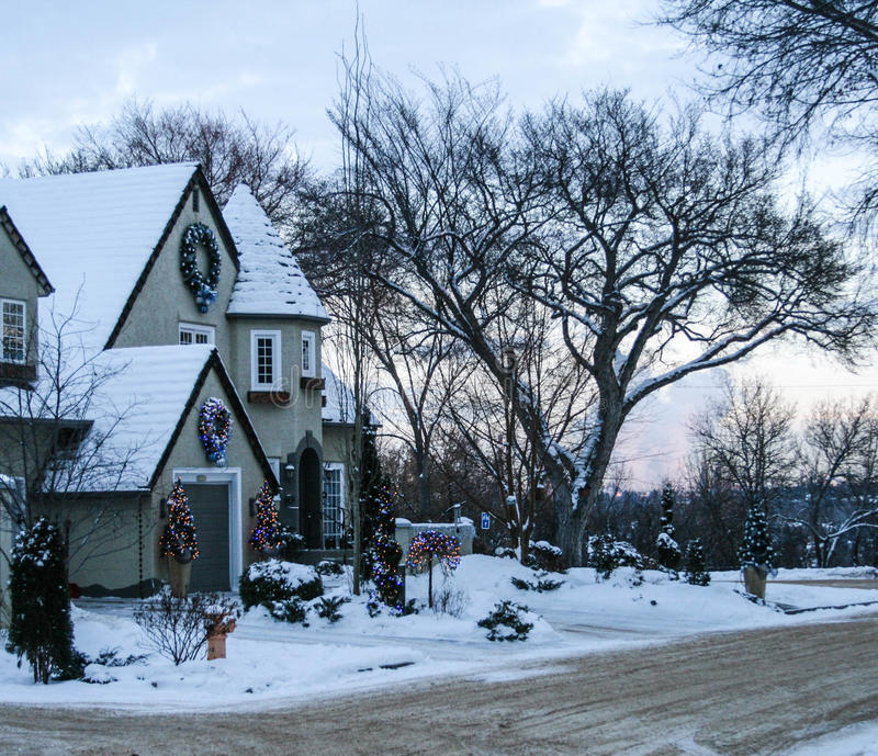 Christmas Decorated Houses In Edmonton