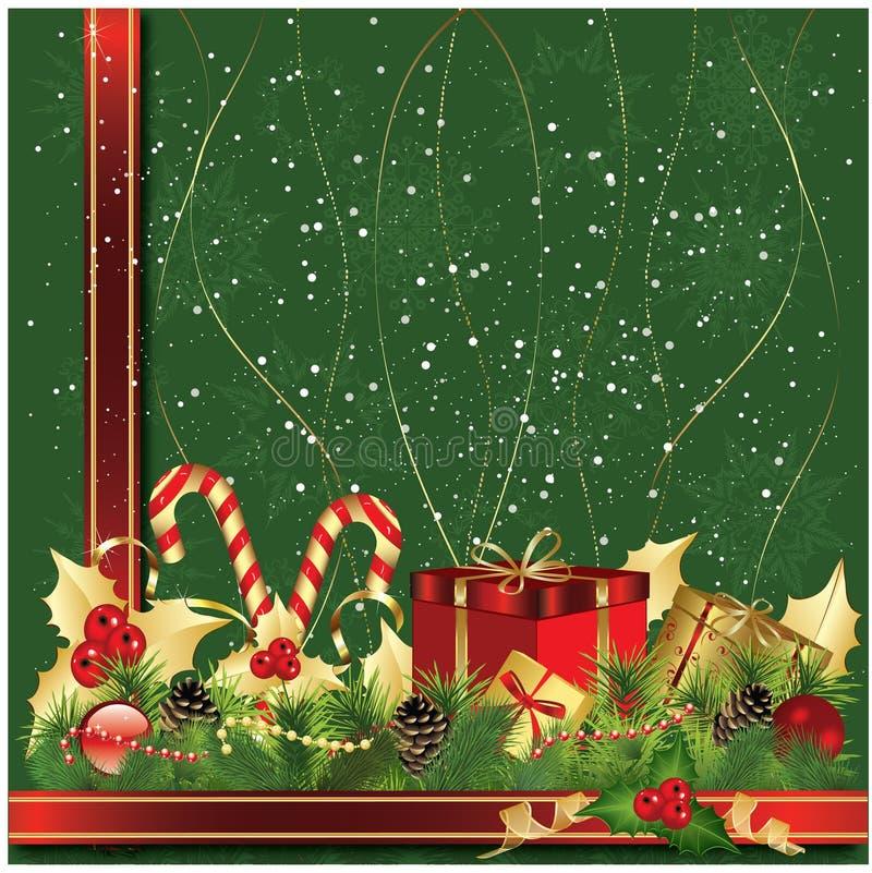 Christmas decorative stock illustration