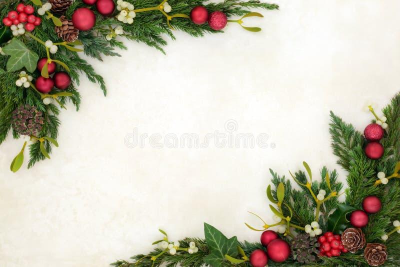 Christmas Decorative Background Border royalty free stock image