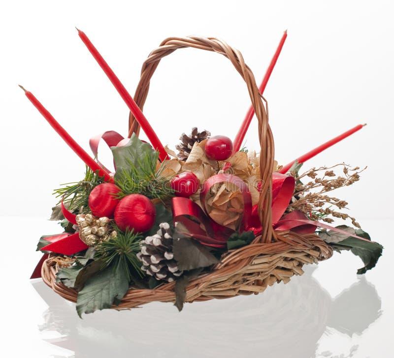 Free Christmas Decorative Basket Royalty Free Stock Photography - 13978847