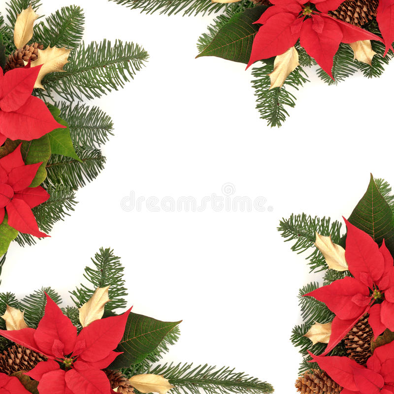 Christmas Decorative Border stock photography