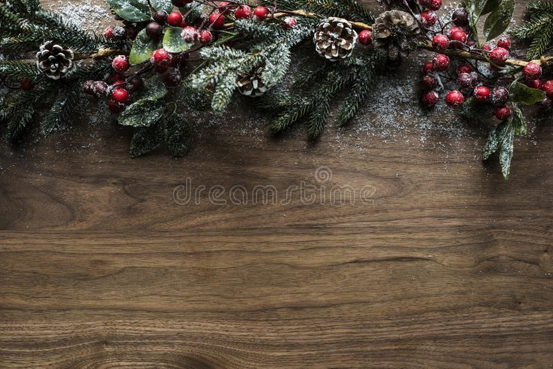 Christmas decorative design space wallpaper royalty free stock images