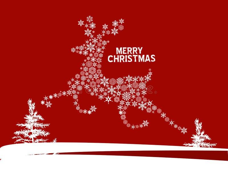 Christmas deer. Vintage vector illustration royalty free illustration