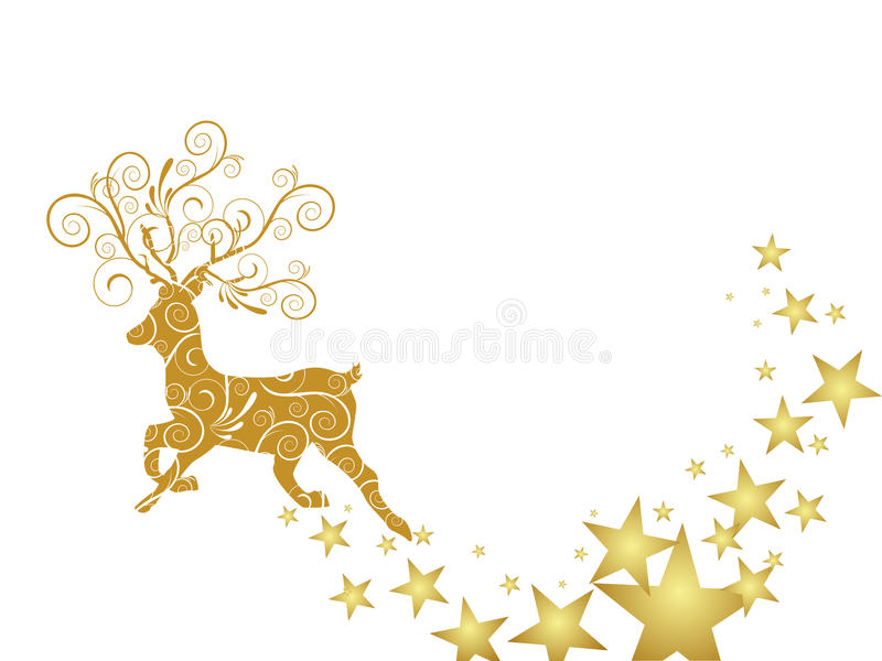 Christmas Deer Royalty Free Stock Images