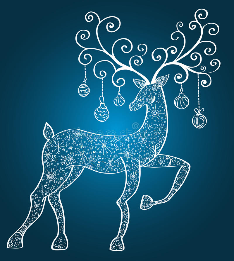 Christmas deer stock illustration