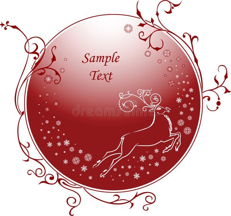 Christmas_deer vektor abbildung